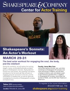 Shakespeare's Sonnets: An Actor's Workout