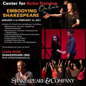 Embodying Shakespeare - A series of virtual workshops
