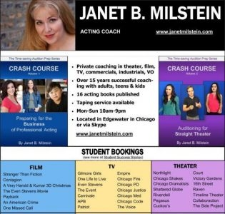 Janet B Milstein Acting Coaching