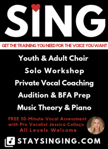 Stay Singing Choir, Music and Vocal Coaching