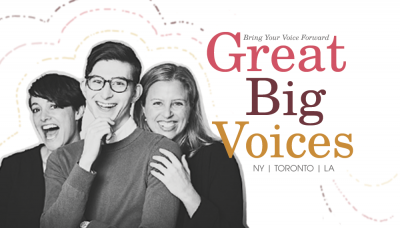 GREAT BIG VOICES (VO Classes) Coaches from Care Bears, Sesame Street & Star Wars. NY, LA & Online.